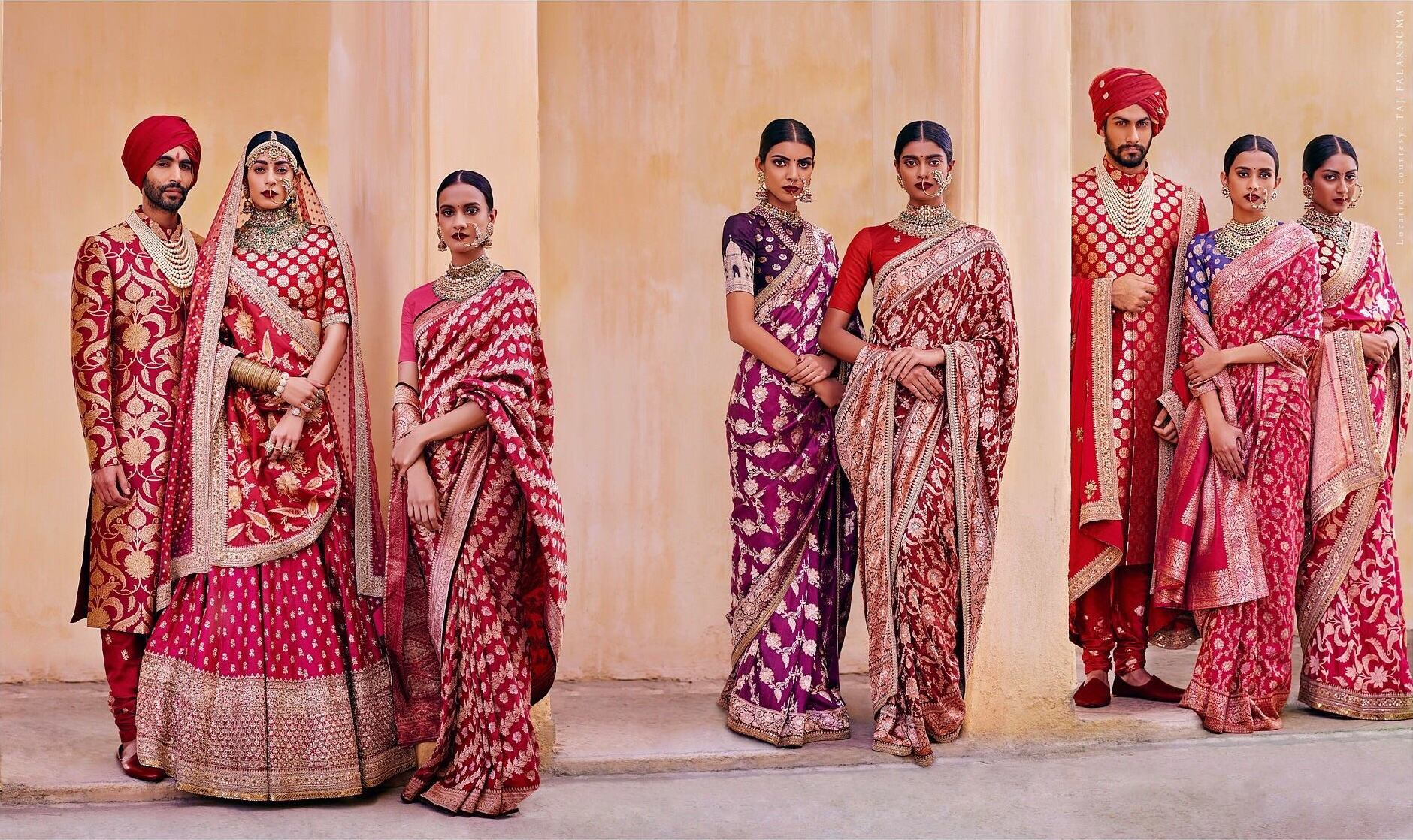 Classic Red outfits- wedding planners